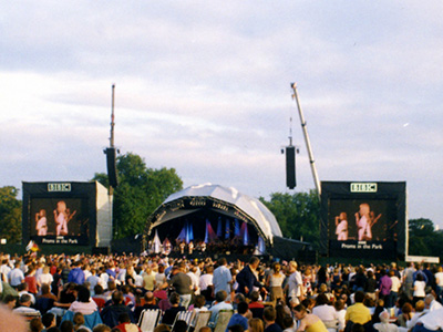 The Proms in the Park, looking at the main stage.