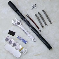 A puncture repair kit.