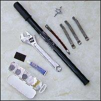 A puncture repair kit.