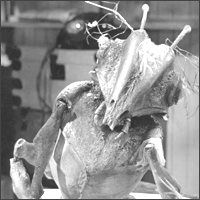 One of the Martians in 'Quatermass And The Pit', the third Quatermass serial.