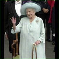 HM Queen Elizabeth, the Queen Mother outside Clarence House on her 101st birthday.
