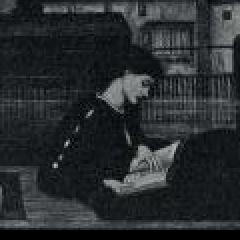 Reading for pleasure.