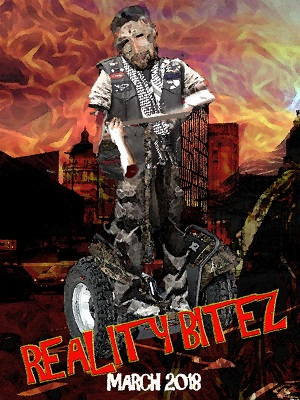 Reality BiteZ promo showing a zombie on a Segway