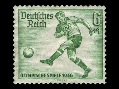 German stamp for the 1936 Olympics