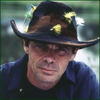 Rich Hall, making his Fishing Show.