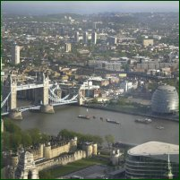 The River Thames wends its way through Central London.