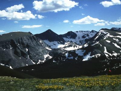 The Rocky Mountains at Denver, Colorado, USA