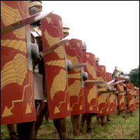 Roman soldiers.
