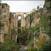 A view of the Puente Nuevo in Ronda.