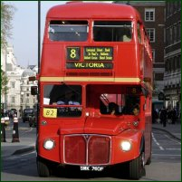 The iconic London Routemaster bus.