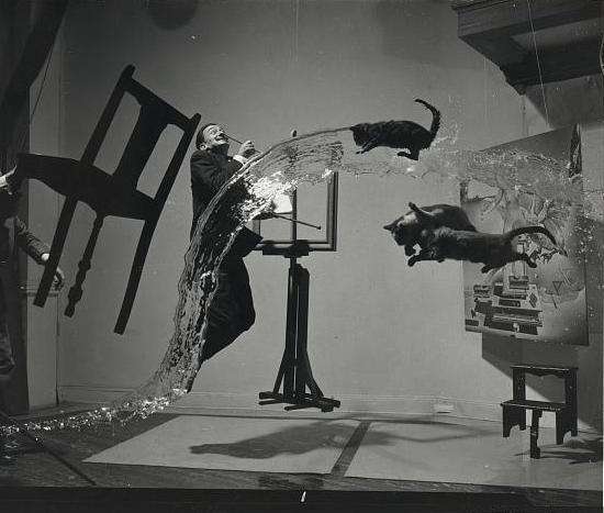 Salvador Dali in an art installation.