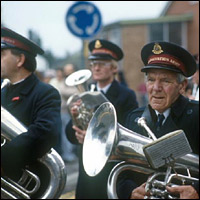 A Salvation Army band in the 1980s.