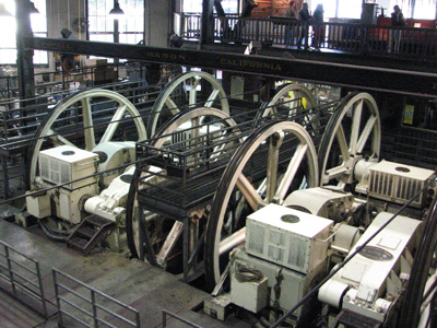 The power house of the San Francisco cable cars.