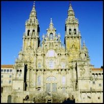 The cathedral at Santiago de Compostela, home to the supposed tomb of St James.