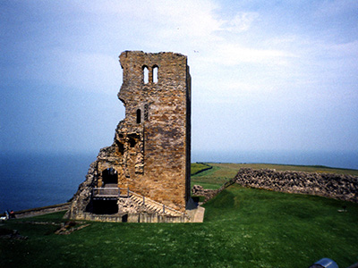 The ruins of Scarborough castle.