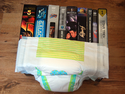 A collection of sci-fi videos wrapped in a nappy.