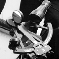 A sextant.