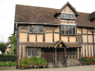 The birthplace of William Shakespeare at Stratford-upon-Avon.