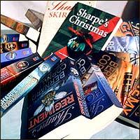 A display of Sharpe novels.