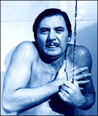 Actor James Beck experiences a cold shower.