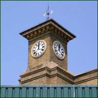 The clock at King's Cross shows 12:02 on 14 July, 2005 at the end of the two-minute silence, one week after the London terror attack on 7 July, 2005.