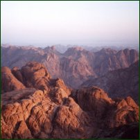 Mount Sinai (or Mount Horeb) Peak, south-central Sinai Peninsula, Egypt. It is especially renowned in the Jewish, Christian, and Islamic traditions as the site where Moses received the Ten Commandments.