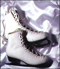A pair of ice-skates.