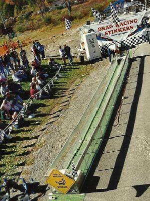 When do skunks race in the Poconos?