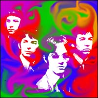 The four members of the band The Small Faces.