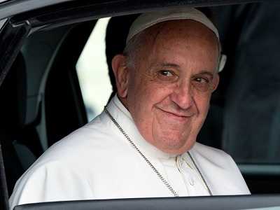 Pope Francis visiting the White House in 2015