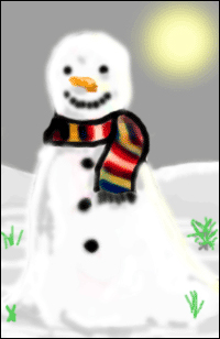 An illustration of a snowman