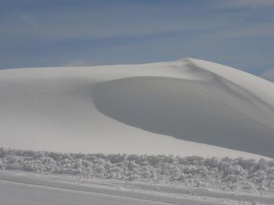 A snow dune.