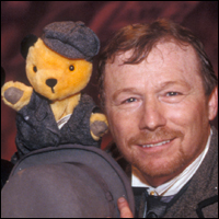 Matthew Corbett and Sooty The Bear