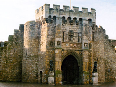 Southampton's Bargate on the City walls.