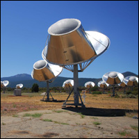 Allen Telescope Array, California, collecting data from the universe.