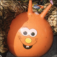 A spacehopper.
