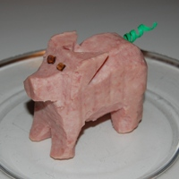 A pig made out of SPAM.