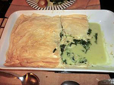A photograph of Spanokopita