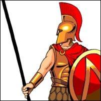 A Spartan soldier.