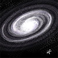 A spiral galaxy by Vauxhall Astra.