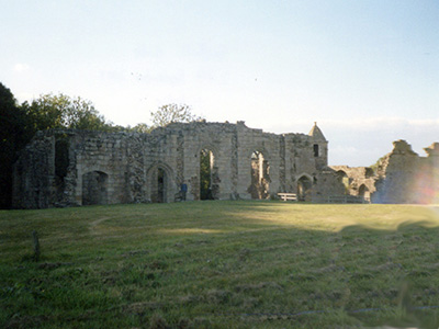 The ruins of Spofforth castle.