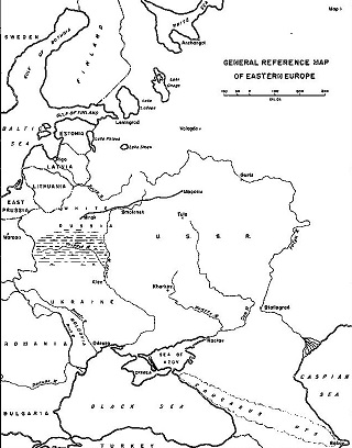 Map of the 1941 German invasion of the Soviet Union