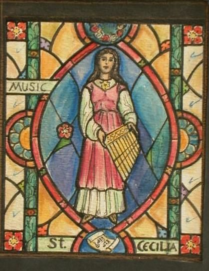 St Cecelia, patron of music.
