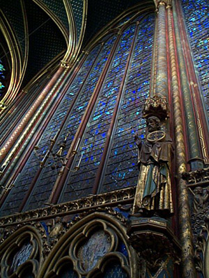 Stained Glass, La Sainte Chapelle, Paris, France.