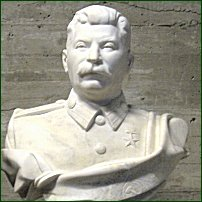 A bust of Josef Dzhugashvili, better known by his self-appointed nickname, Stalin ('man of steel').
