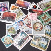 Postage stamps from around the world.