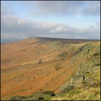 Stanage Edge, the Peak District.