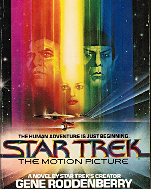 The book cover of Star Trek - The Motion Picture by Gene Roddenberry, 1979