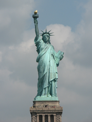 The Statue of Liberty, New York.