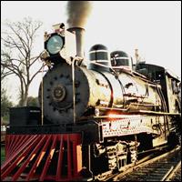 Victorian steam train.